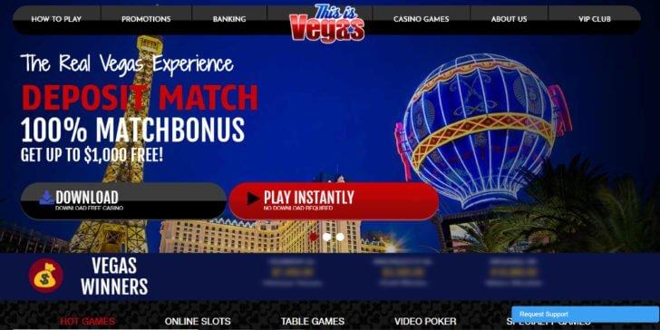 this is vegas homepage screenshot
