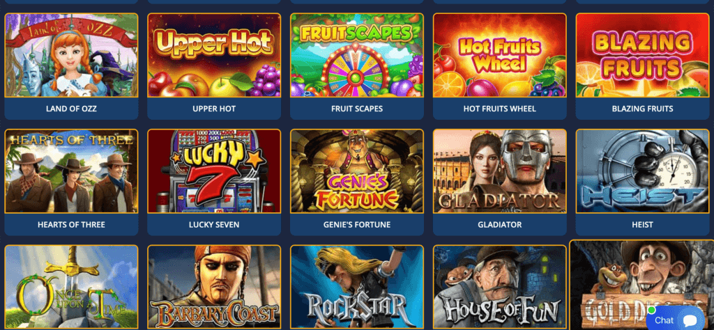 77xslot games screenshot