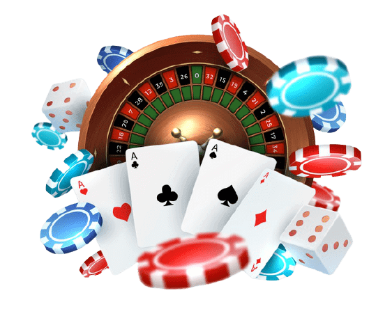 playing-cards-poker-chips-falling-dice-online-casino-gambling-realistic-gaming-concept-with-leisure-lucky-roulette